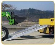 Rampe aluminium pour chargement engins - Charge unitaire : de 3200 à 7870 Kg/paire