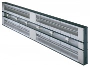 Rampe chauffante avec éclairage - Intercalaire de 76 mm