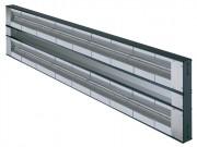 Rampe chauffante double sans éclairage - Intercalaire de 76 mm