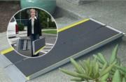 Rampe d'accès handicapé aluminium - Longueur de 0.61 à 1.82 m - Largeur : 0.76 m