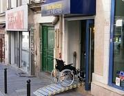 Rampe d'accès handicapés modulaire - Capacité de charge : 450 kg