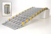 Rampe d'accès modulaire - Franchissement : De 15 à 70 cm - Capacité de charge : 450 kg