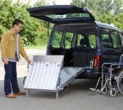 Rampe d'accès pour fauteuil roulant - Rampe antidérapante - Charge unitaire : 350 Kg
