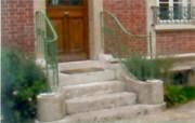 Rampe d'escalier débillardée en fer