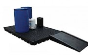Rampe de chargement PEHD - Dimensions (mm) : 1290 x 810 x 180 - Pour plancher de rétention