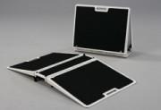 Rampe de seuil pour handicapé pliante - Franchissement : De 7,5 à 15 cm - Capacité de charge : 300 kg