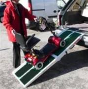 Rampe démontable pour scooter - Franchissement : De 10 à 45 cm - Capacité de charge : 300 kg