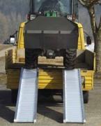 Rampe en aluminium pour pneumatiques et chenilles caoutchouc - Rampe de chargement de véhicules