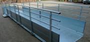 Rampe handicapé acier - Passage libre en mm : 1400 mm