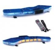 Rampe lumineuse en V avec sirène et haut parleur - Alimentation : 10-30 V CC