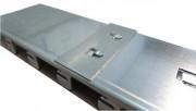 Rampe pliable avec bords de sécurité - Antidérapante - H. franchissement 22 à 50 cm