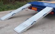 Rampes de chargement pour porte engins - Rampes en aluminium - Longueur de 2400 à 3000 mm