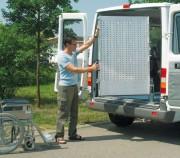 Rampes pivotantes et repliables pour fourgons - Rampes repliables en aluminium pour fourgons et V.U.L