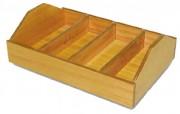 Range couverts de table en bois - Dimensions (L x I x h) : 520 x 360 x 160 mm
