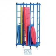 Range tapis vertical pour piscine - Dimensions (L x l x h) : 120 x 75 x 235 cm