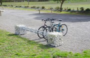 Range vélo gabion - Supports cycles gabions 6 places