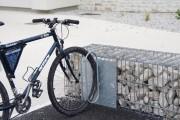 Range vélos gabion - Fixation : acier galvanisé à chaud
