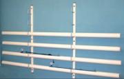 Râtelier pour poteaux de volley - En acier plastifié - Conforme au code du sport et à la norme NF EN 1271