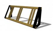 Râtelier range-vélos en bois - Dimension (mm) : 2000 x 550 x 800