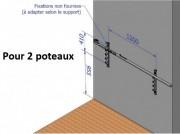 Rateliers de badminton - Matières : Métal, PVC
