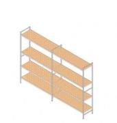 Rayonnage à clayette en aluminium - 3 à 5 niveaux - Hauteur : 1800 mm - Profondeur : 500 mm