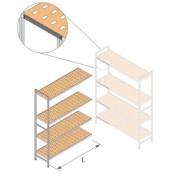 Rayonnage à clayette hauteur 1800 - Dimension (HxPxL) mm : Jusuq'à 1800 x 400 x 4901 – Etagères en angle standard