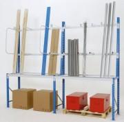 Rayonnage à échelles à boulonner - Capacité de charge (kg) : 4500