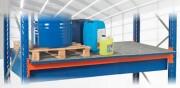 Rayonnage à palettes métallique - Rétention : 440 - 880 - 1000 Litres
