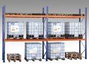 Rayonnage à palettes pour charges palettisées - Hauteur de 2400 mm jusqu'à 10800 mm.