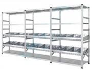 Rayonnage à séparateurs de casiers - Séparateurs amovibles