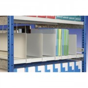 Rayonnage à tablettes métalliques - Capacité de charge : de 80 à 400 Kg/niveau