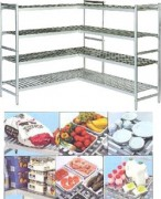 Rayonnage alimentaire fixe à clayette duralinox - Profondeur (mm) : 360 - 460 - 560