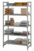 Rayonnage alimentaire stationnaire - Hauteur 1800 mm - 4 ou 5 étagères