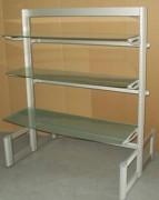 Rayonnage aluminiumsur mesure - Dimensions (H x L x P) : 150 x 120 x 60 cm