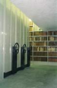 Rayonnage bibliothèque mobile mécanique - Possibilité de fonds grillagés