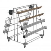 Rayonnage cantilever / à bras - Râtelier mobile - Chariot conçu pour le stockage de charges longues