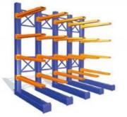 Rayonnage cantilever lourd - Capacité de charge pour les colonnes : de 600 à 11000 kg/face