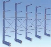 Rayonnage cantilever pour charges lourdes - Bras réglables en hauteur au pas de 70 mm