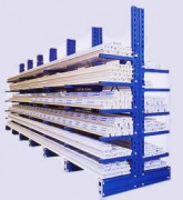 Rayonnage Cantilever simple ou double faces - Stockage en simple ou double faces