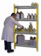 Rayonnage de rétention à bac - Solution de rayonnage pour le stockage de produits dangereux