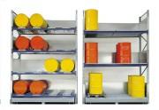 Rayonnage de stockage produits dangereux - Charge admissible par niveau (Kg) : 3000