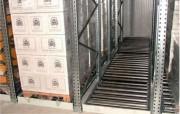 Rayonnage dynamique à palettes système FIFO - Stockage de produits à fort taux de rotation