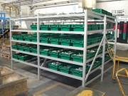 Rayonnage dynamique atelier - Structure en profilé Aluminium