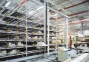 Rayonnage dynamique pour bacs et cartons - Rayonnage métallique Kanban
