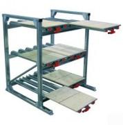 Rayonnage ergonomique à tiroirs bois - Deux tiroirs par niveau