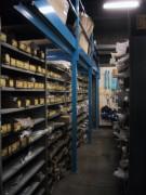 Rayonnage fixe fonds tôlés pour pièce automobile - Rayonnage métallique Profiltol