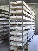 Rayonnage fixe petites pièces - Produits stockés : pièces de décolletage