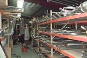 Rayonnage fixe pour pots d'echappement - Rayonnage métallique Profiltol