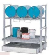 Rayonnage fûts superposables 800 kg - En acier galvanisé