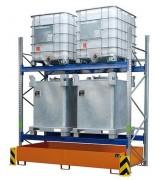 Rayonnage industriel de rétention - Capacité de rétention : de 200 à 1000 litres